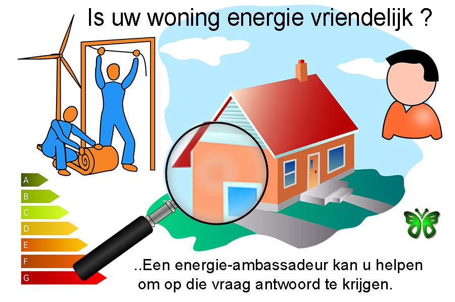 Een energie ambassadeur kan u helpen met tips om uw woning te verbeteren